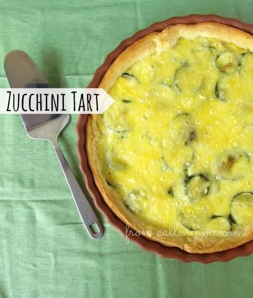 """Fresh Zucchini Tart""""I'll be honest, I never ate zucchini before having this..."""