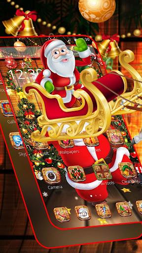 Cartoon Glitter Santa Claus Theme ss1