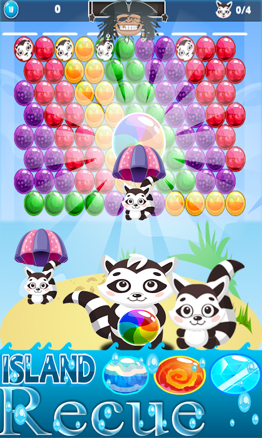Bubble Shooter Pet Raccoon- screenshot