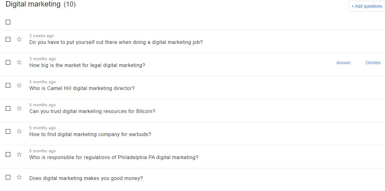 Google Question Hub Results