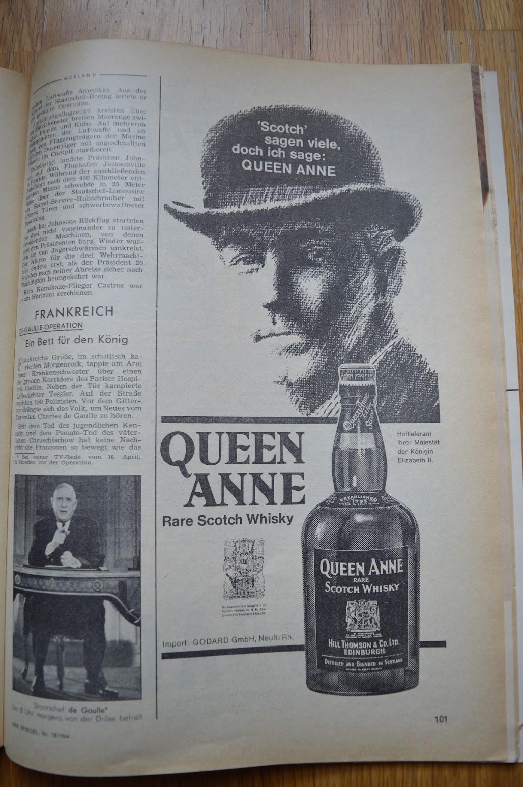 DER SPIEGEL, 29. April 1964 - Werbung für Whisky