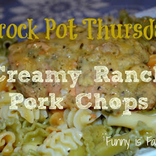 Crock Pot Creamy Ranch Pork Chops.