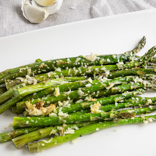 Easy Roasted Asparagus with Parmesan.