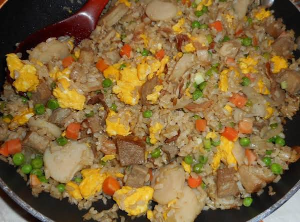Roast Pork And Bacon Fried Rice Recipe