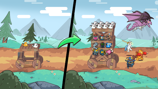Cat'n'Robot: Idle Defense - Cute Castle TD PVP screenshots 1
