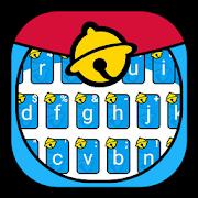 Blue Fat Cat Keyboard Theme