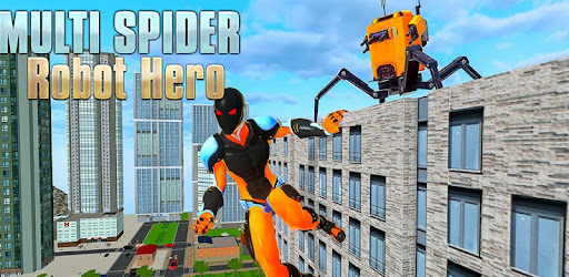 Combo spider superhero robot warriors facing crime battle against criminal gangs