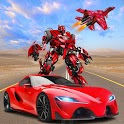 Air Jet Fighter Car Transform - Grand Robot Games icon