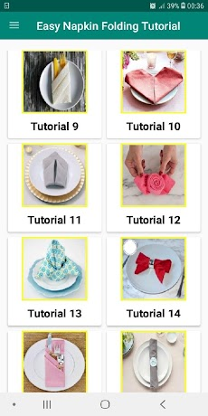 Table Napkin Folding Tutorial Offline Easy Stepのおすすめ画像5