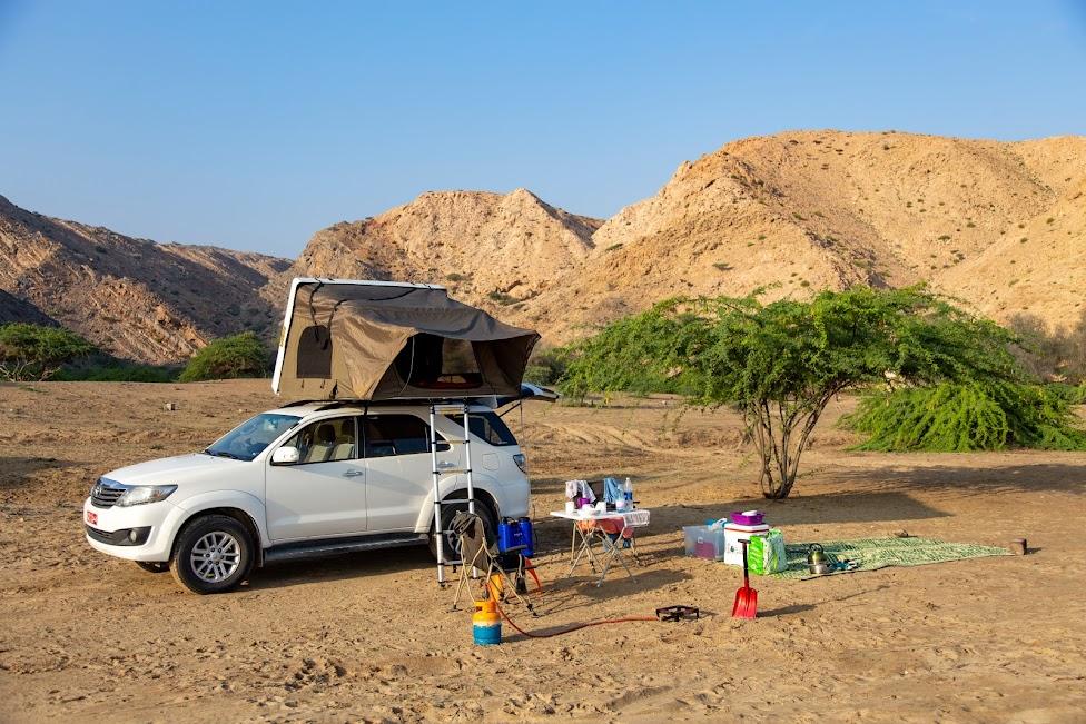 Oman, kemping, namiot, idziemy dalej w 2020