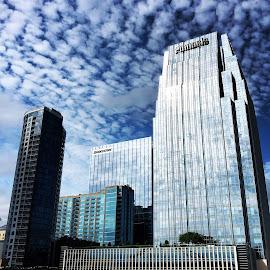 Nashville by Mary Phelps - City,  Street & Park  Skylines ( sky, nashville, tennessee, downtown, skyline, clouds,  )