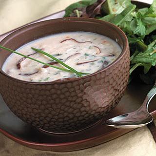 Wild Mushroom-Crab Soup.