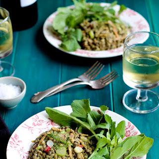 French Green Lentil with Tarragon Pesto Salad