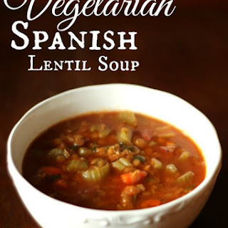 Vegetarian Spanish Lentil Soup.