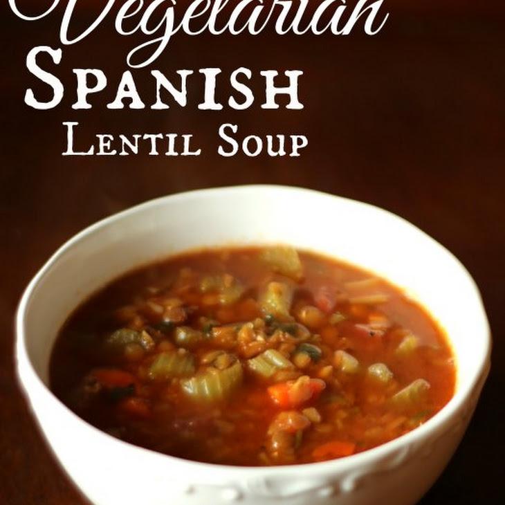 Vegetarian Spanish Lentil Soup Recipe