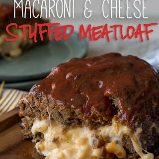 Macaroni Cheese Stuffed Meatloaf.
