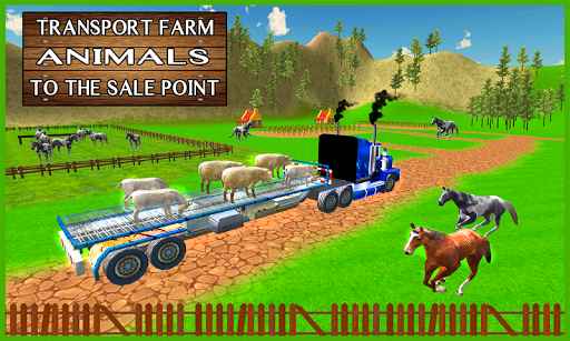 Farm Animal Transport Truck 3D