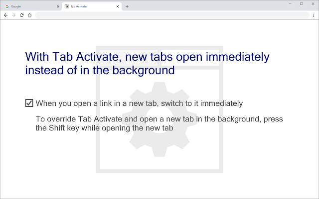 Tab Activate