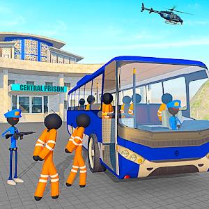 Transport Stickman Prisoner Bus Driving for pc