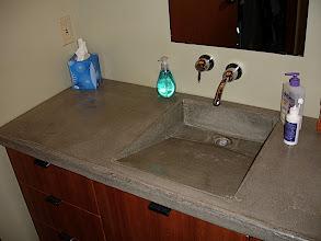 Photo: Concrete Sink & Countertop