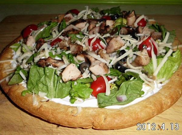 Grilled Chicken Salad Pizza Recipe