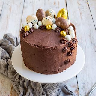 Vanilla Cake with Chocolate Orange Cream Cheese Frosting