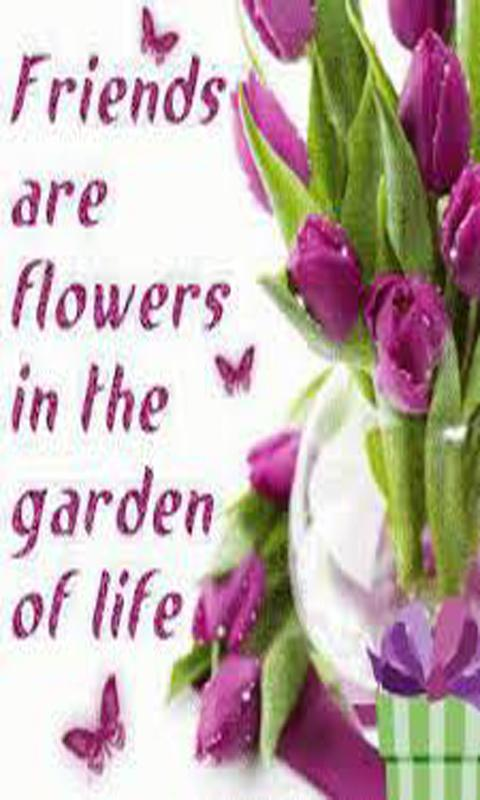 Pics Of Flowers With Friends Quotes In English Flowers Ideas