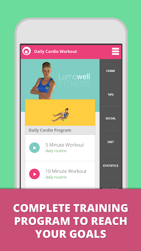 Daily Cardio Fitness Workouts screenshot 1