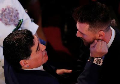 Lionel Messi adresse un message à Diego Maradona