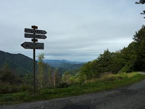 Photo: Vue de l'intersection des routes du col de la Crouzette du col de Rille