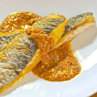 Branzino with Puttanesca.