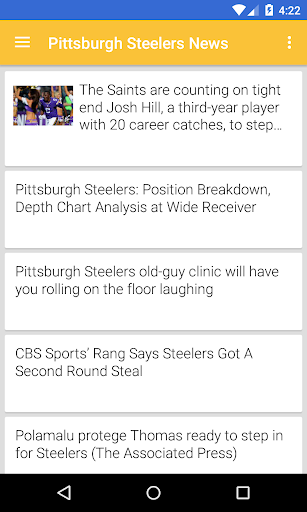 BIG Pittsburgh Football ニュース