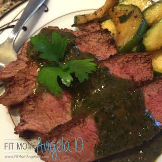 Chimichurri Flat Iron Steak.