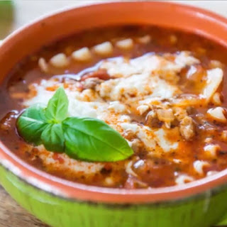 Cheesy Lasagna Soup Recipe - Comfort Food