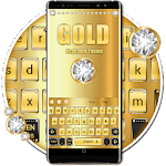 Gold Luxury Diamond Keyboard