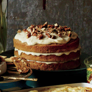 Carrot-Apple Spice Cake with Browned-Butter Glaze.