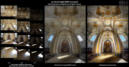 Photo: HDR Before-and-After: Let there be Light ( details: bit.ly/bna-ltbl )  Take a look at the Resources section below if you want to learn the techniques.  Here is the before-and-after comparison of the image 'Let there be Light'. I posted the image yesterday (see here: bit.ly/gp-ltbl), and it was immensely popular. Thanks everybody!  In this illustration, you see the stages of its creation. It was created from 12 single exposures that where merged to HDRs and tone-mapped in Photomatix. After that, I stitched them together in Photoshop and did the post-processing.  If you're interested in the details, visit the before-and-after page at [ bit.ly/bna-ltbl ] and the photo page at [ bit.ly/fp-ltbl ]. There is tons more information on my website at [ farbspiel-photo.com ].  Resources 1. The original photo page: [ bit.ly/fp-ltbl ] (all the information on the image and the processing) 2. The before-and-after page: [ bit.ly/bna-ltbl ] 3. Tutorial: Taking Interior HDR Vertorama Shots at [ bit.ly/fp-vertohand ] 4. Tutorial: Taking HDR Vertorama Shots with a Tripod at [ bit.ly/fp-vertotripod ] 5. Tutorial: Creating HDR Panoramas and Vertoramas at [ bit.ly/fp-panos ]  #hdr #photography #vertorama #beforeandafter