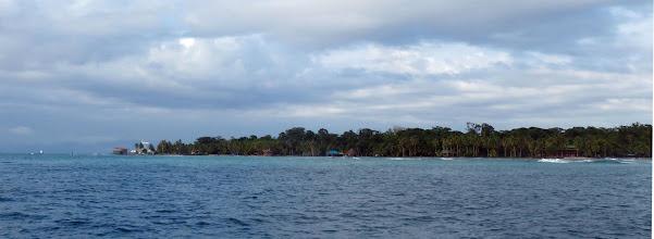 Photo: Sunrise arrival in the Bocas del Toro Area.  This is the backside of Isla Carenero.