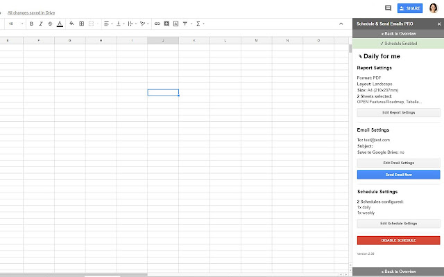Schedule Send Email In Spreadsheets Google Sheets Addon - Schedule google sheets