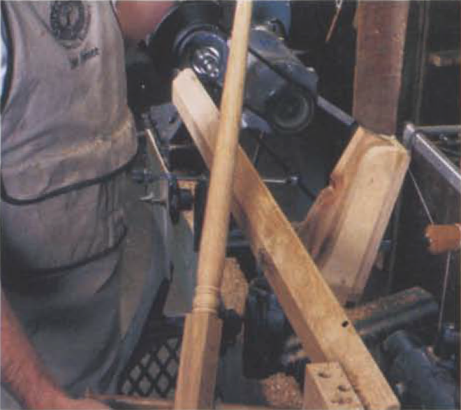 """9. The finished spindle """"right off the tools."""""""