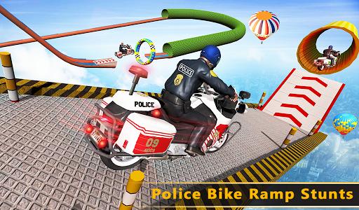 Police Bike Mega Ramp Impossible Bike Stunt Games painmod.com screenshots 17
