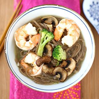 Shrimp, Mushroom & Soba Noodle Soup