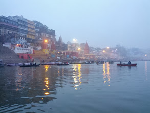Photo: An early morning boat ride along the ghats in Varanasi