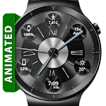 Brushed Metal HD Watch Face & Clock Widget Icon