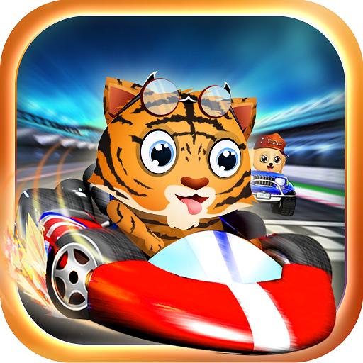Wild Animal Racing: Xtreme Car Racing Game