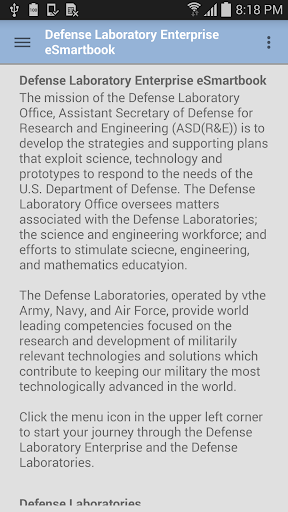 Defense Laboratory eSmartbook