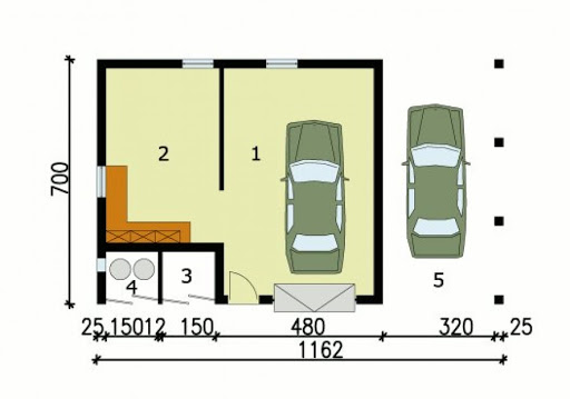 G118 - Rzut garażu