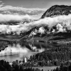Jutranje meglice by Bojan Kolman - Landscapes Cloud Formations