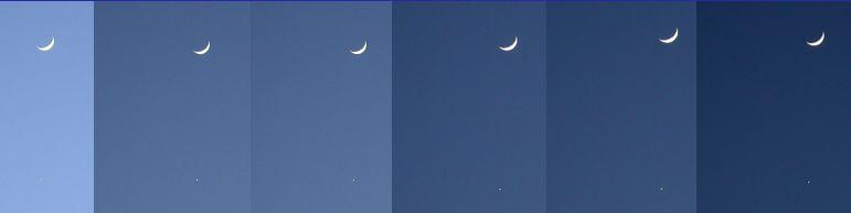 Photo: Congiunzione Luna Venere del 29 gennaio 2009