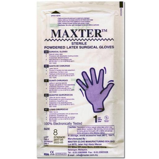 Guantes Quirurgico Maxter Talla 8